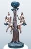 Адам и Ева бронза, мрамор 51х20х12 2005