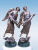 Щедрые Ангелы Бронза, мрамор 43х22х9  2006