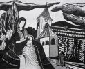 Гостілова Олена, 12 років, БОГОМАТІР З ДИТИНОЮ, папір, маркер, 2006, викл. Мазур-Посвалюк О.В.